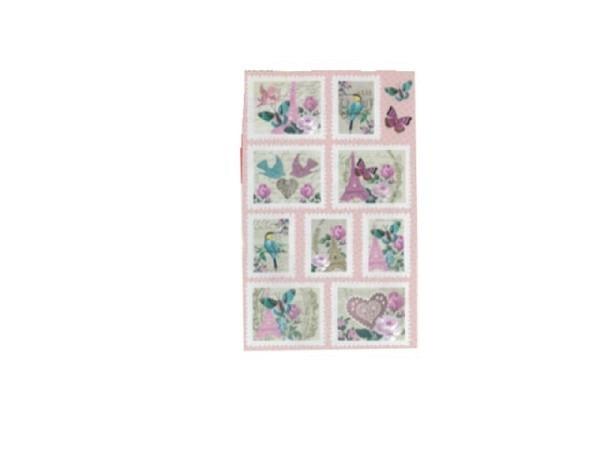 Aufkleber bsb Deco Sticker, rosa Eifelturm, Blisterpackung