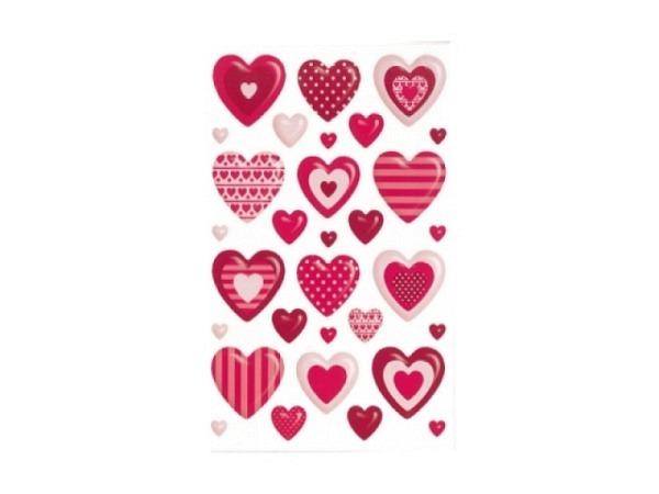 Aufkleber bsb Deco Sticker, verzierte Herzchen, Blisterpackung