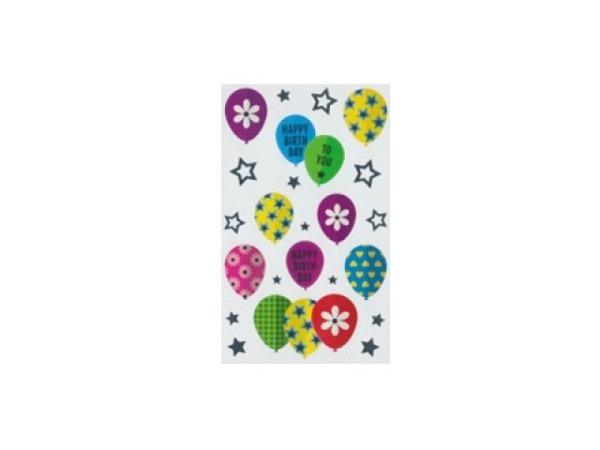 Aufkleber bsb Deco Sticker, Luftballons und Sternchen Happy Birthday