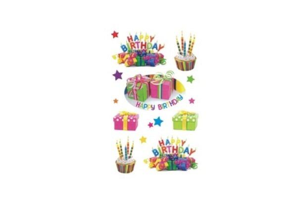 Aufkleber bsb Deco Sticker Geburtstag, Blisterpackung