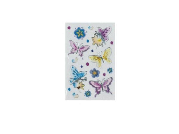 Aufkleber bsb Deco Sticker, Schmetterlinge und Blumen