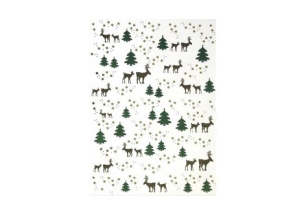Aufkleber Artoz Creamotion 21x30cm Tannenbäume mit Hirschen