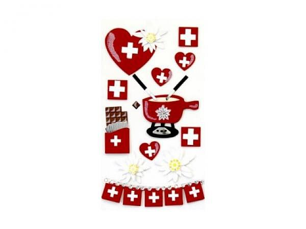 Aufkleber Artoz Artwork Schweiz Fondue-Set 12Stk<br>