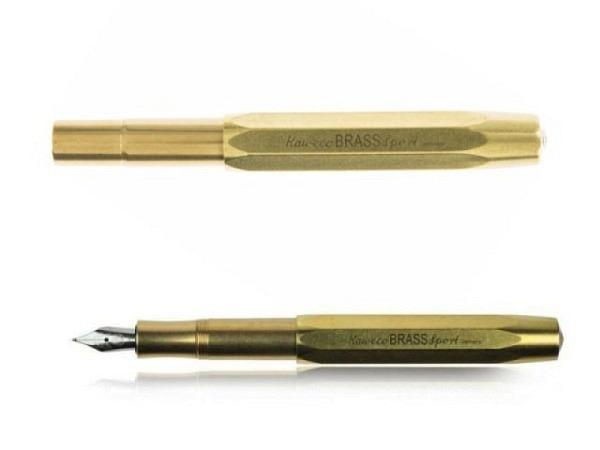Füllfeder Kaweco Brass Sport M, achtkantiges Gehäuse Messing