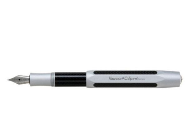 Füllfeder Kaweco AC Sport silber M, achtkantiges Aluminium