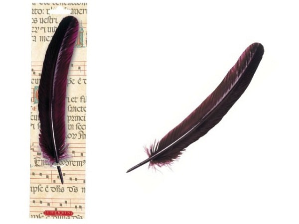 Federhalter Herbin Gänsekiel 21cm  bordeaux oder marineblau