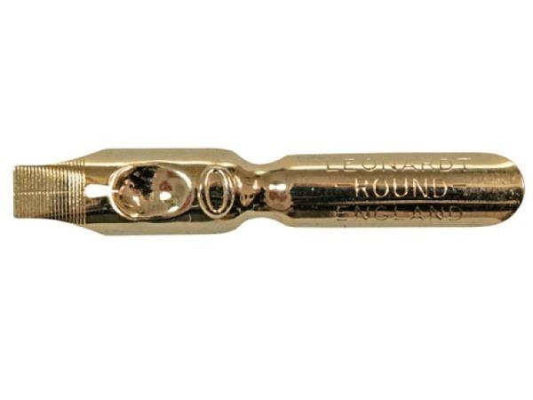 Feder Round Kunstschriftfeder No.0 Leonardt gold