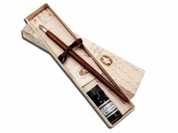 Federhalterset Rubinato Set mit Holzhalter Handform