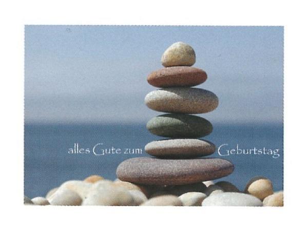 Geburtstagskarte Art Bula 12,2x17,5cm Steinpyramide
