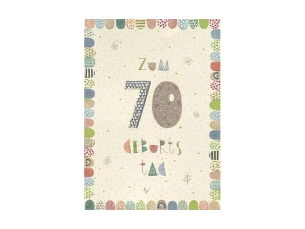Geburtstagskarte Turnowsky Zahlengeburtstag 70