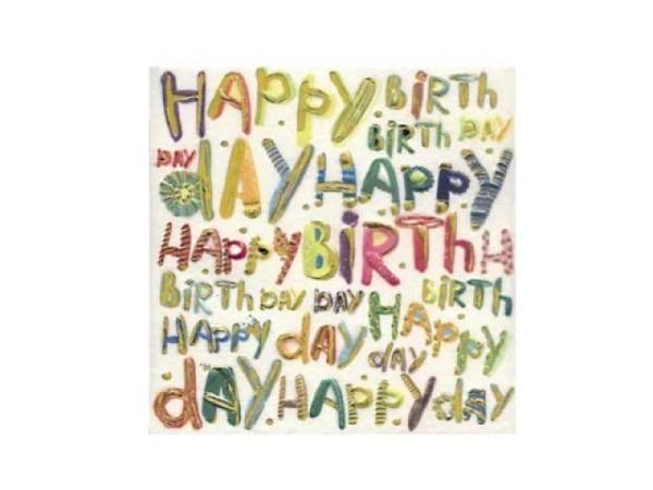 Geburtstagskarte Turnowsky Mini Happy Birthday, verziert