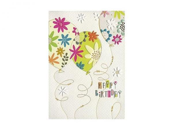 Geburtstagskarte Turnowsky, bunte Torte