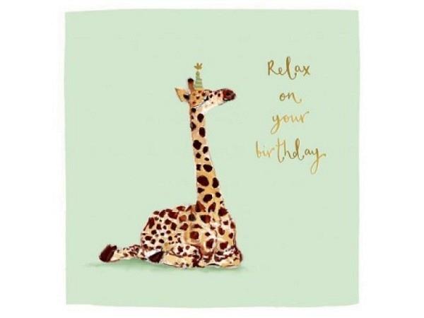 Geburtstagskarte Louise Mulgrew Giraffe 15x15cm