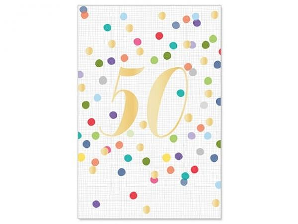 Geburtstagskarte Artebene 50 Jahre 11,5x17cm