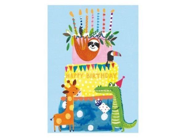 Geburtstagskarte Papersalad Geburtstagstorte 12x17cm