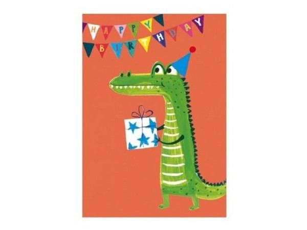 Geburtstagskarte Papersalad Krokodil 12x17cm
