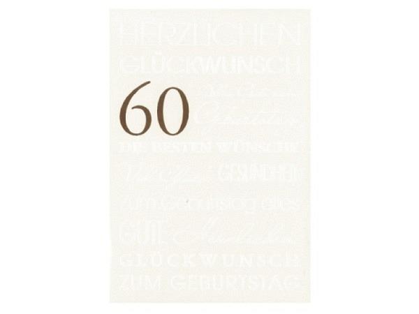 Geburtstagskarte Borer Smiley 10,5x21cm