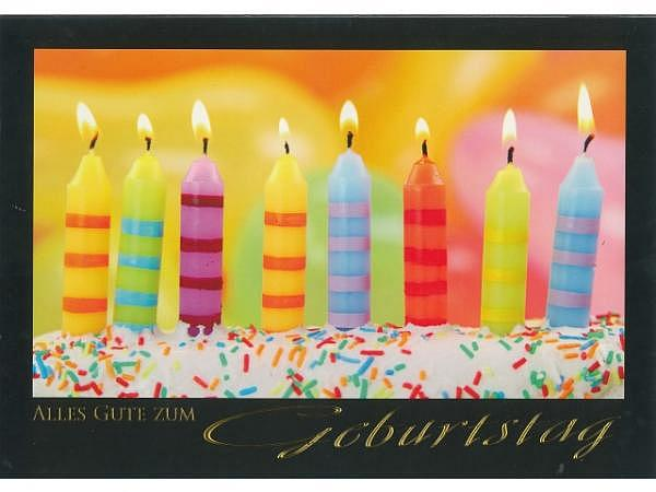 Geburtstagskarte Borer A4 Kerzen