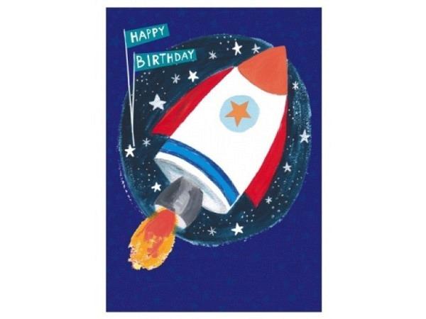 Geburtstagskarte Papersalad Rakete 12x17cm