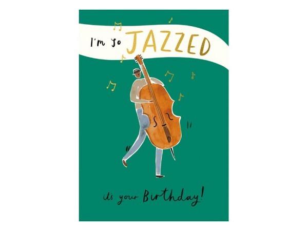 Geburtstagskarte AvanCarte Animals Hund mit Lockenwickel