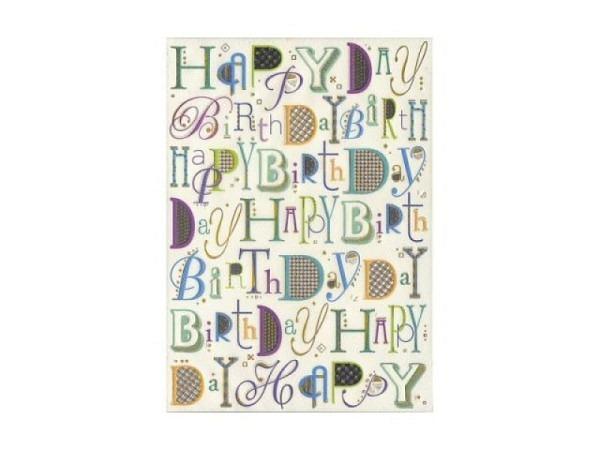 Geburtstagskarte Turnowsky Happy Birthday, 14,8x21cm