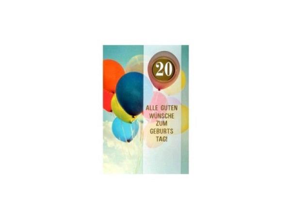 Geburtstagskarte ABC 30 Zahlengeburtstag Champagnergläser 11