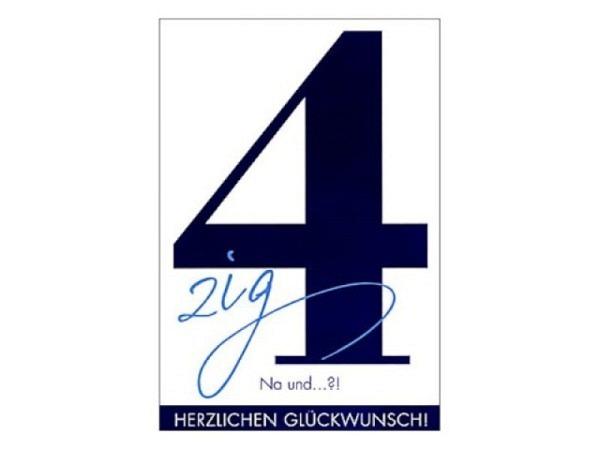 Geburtstagskarte ABC 40 Zahlengeburtstag Marienkäfer