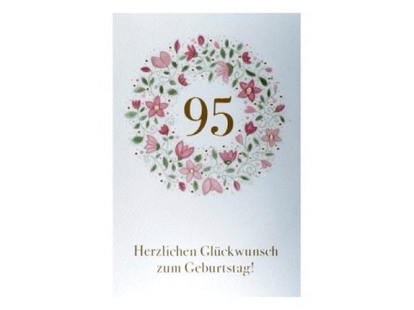 Geburtstagskarte ABC Scherenschnitt Schmetterling 11,5x17