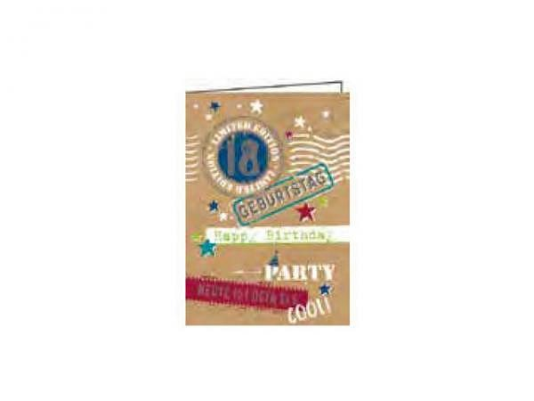 Geburtstagskarte Gollong Zahlengeburtstag 18