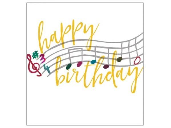 Geburtstagskarte Caroline Gardner Quintessential Birthday Notes 14,6x14cm