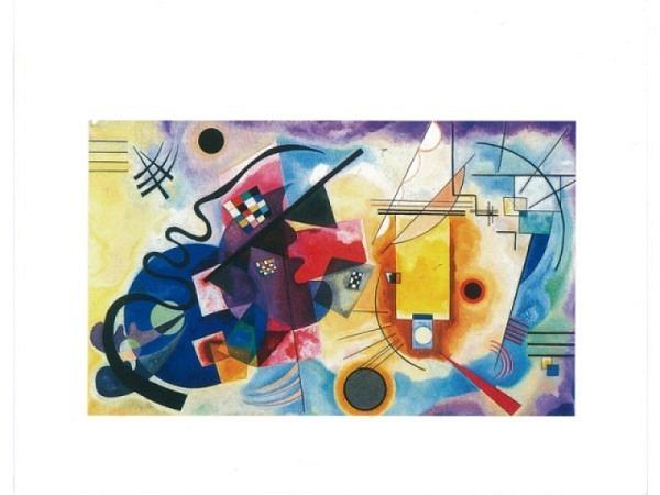 Geburtstagskarte Reiter Yellow, Red, Blue-Wassily Kandinsky