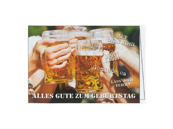 Geburtstagskarte Gollong Bier