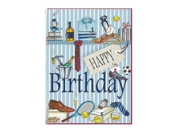 Geburtstagskarte Gollong 6x8cm Männersachen