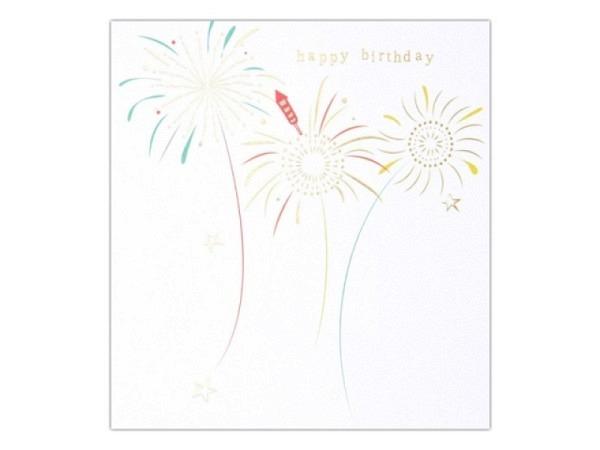 Geburtstagskarte Caroline Gardner Tippy-Toes Birthday Fireworks 14,6x14cm