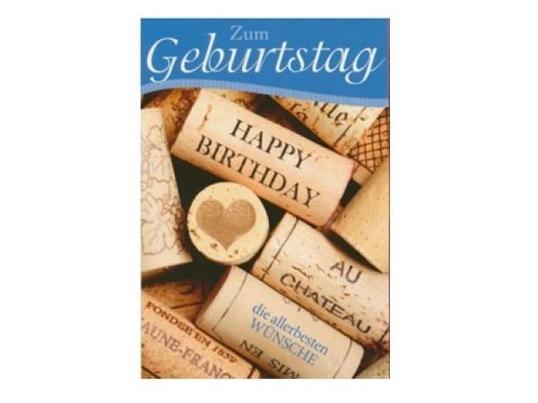 Geburtstagskarte AvanCarte Birthday Weinkorken 12x17,5cm