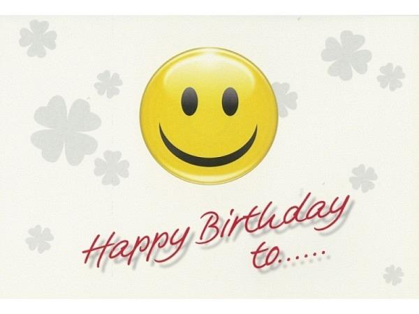 Geburtstagskarte Borer lachendes Smiley