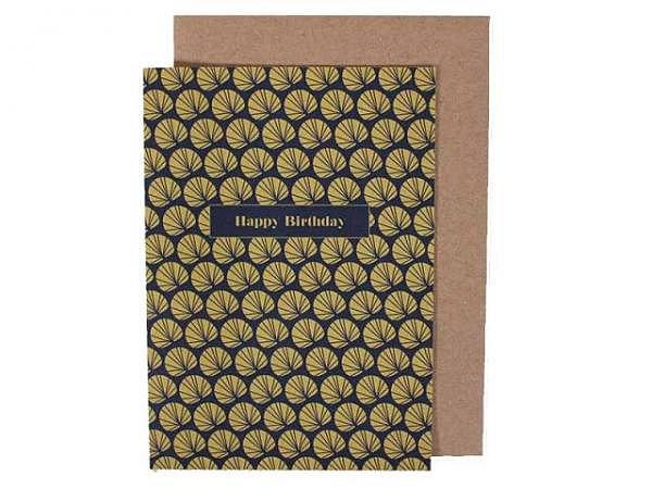Geburtstagskarte Ava&Yves Palmwedel A6 14,8x10,5cm