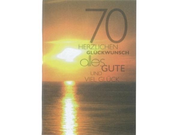 Geburtstagskarte 70 Gollong Sonnenuntergang