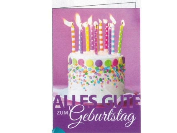 Geburtstagskarte Gollong Geburtstagstorte, A4