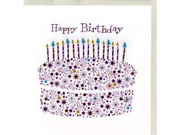 Geburtstagskarte Talking Pictures Geburtstagstorte