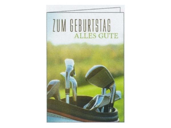 Geburtstagskarte Gollong Golf 12x17,1cm