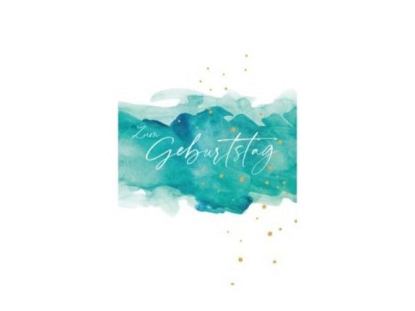 Geburtstagskarte Reiter Seerosen, von Claude Monet