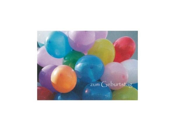 Geburtstagskarte Art Bula 12,2x17,5cm, mit farbigen Ballonen
