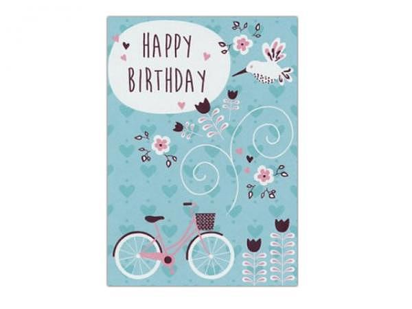 Geburtstagskarte AvanCarte Fahrrad 12,5x17cm