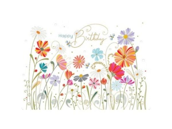 Geburtstagskarte Turnowsky B6 12,5x17,6cm Blumen