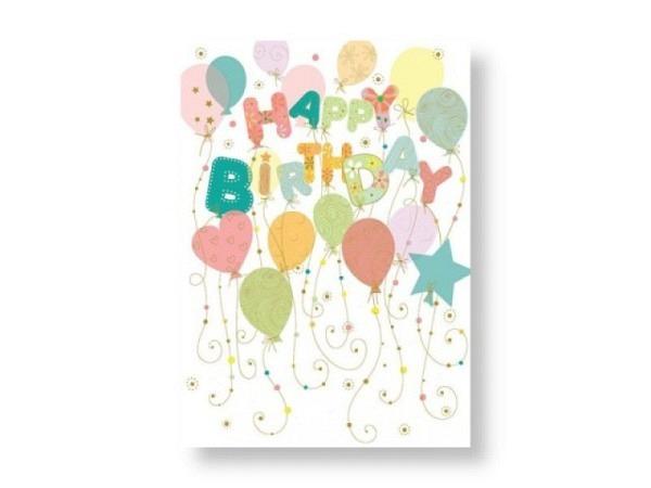 Geburtstagskarte Turnowsky Ballone Happy Birthday 14,8x21cm
