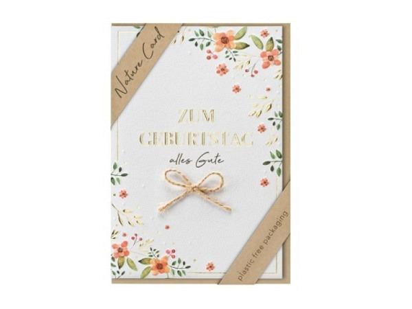 Geburtstagskarte Gollong Zahlengeburtstag 5 Affe