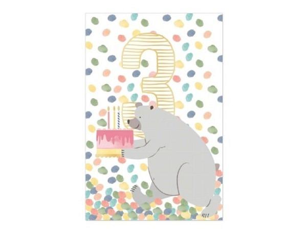 Geburtstagskarte Artebene Happy Happy Birthday 21x8cm