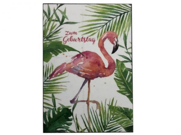 Geburtstagskarte Gollong Flamingo