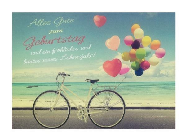 Geburtstagskarte Hartung Moments Alles Gute zum Geburtstag - Fahrrad